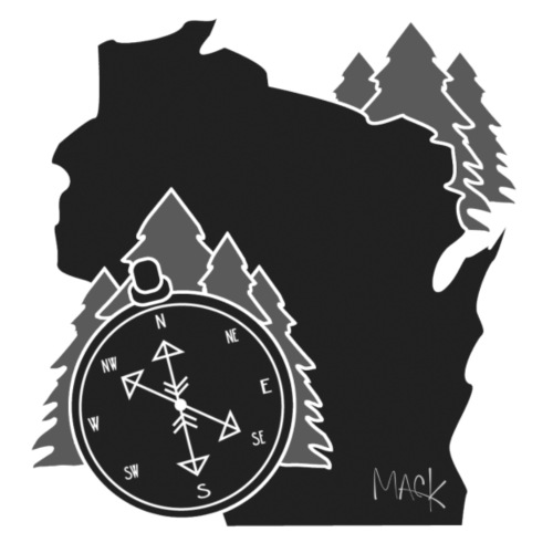 Black/White WI Logo - Men's Premium T-Shirt