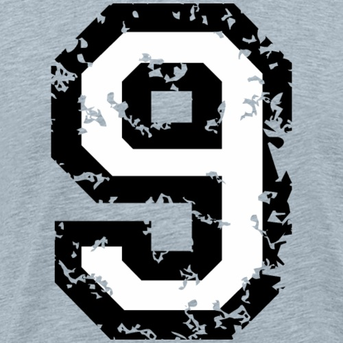 Number 9 Nine 9th Birthday (Black&White) - Men's Premium T-Shirt