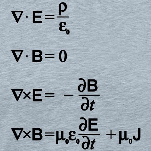 Maxwell's equations (differential) - Men's Premium T-Shirt