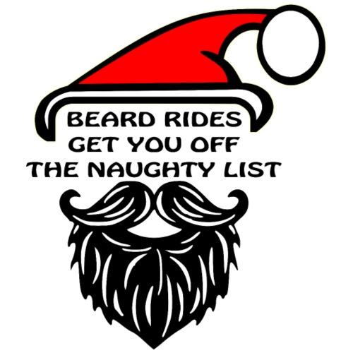 Beard Rides Get You Off The Naughty List © - Men's Premium T-Shirt