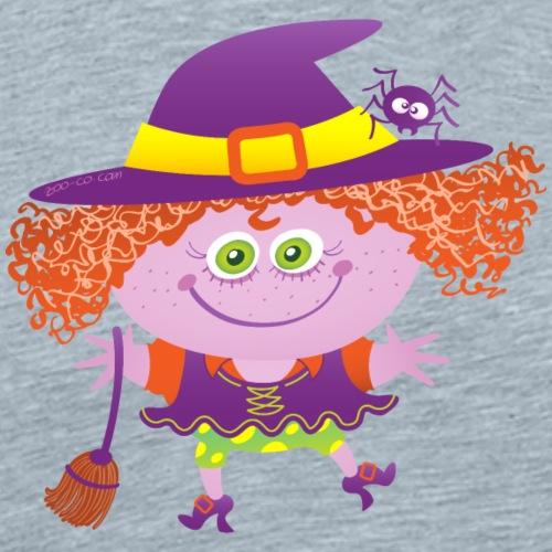 Mischievous girl wearing a Halloween witch costume - Men's Premium T-Shirt
