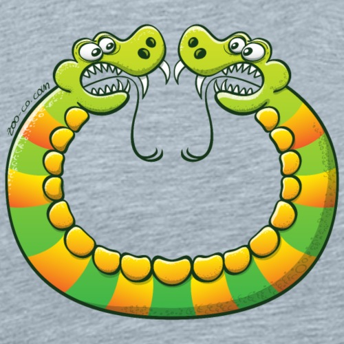 Scary double headed snake - Men's Premium T-Shirt