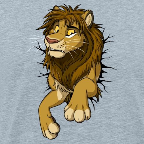 STUCK Lion (black cracks) - Men's Premium T-Shirt