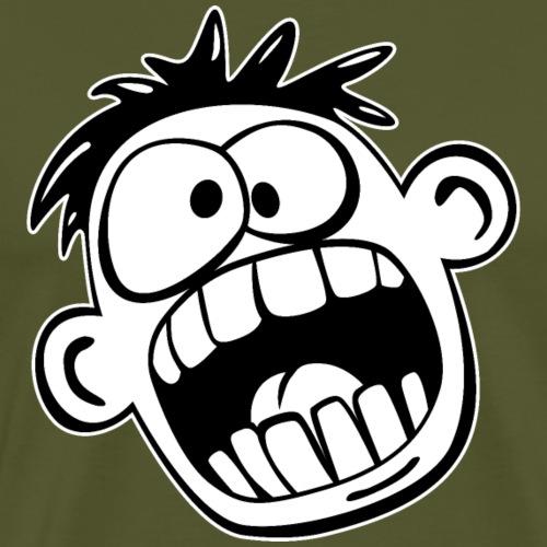 Funny Face Cartoon - Men's Premium T-Shirt