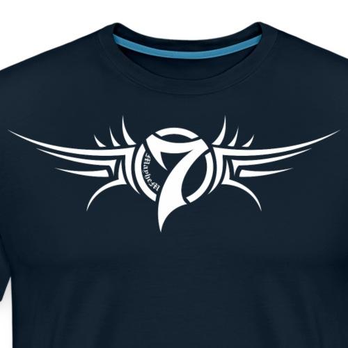 MayheM-7 Tattoo Logo White - Men's Premium T-Shirt