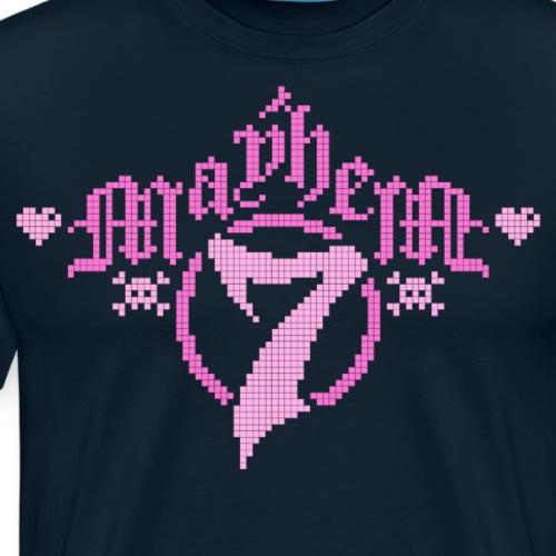 MayheM-7 - Logo 5 - Pink - Men's Premium T-Shirt