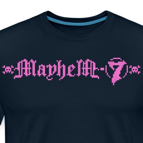MayheM-7 - Logo 4 - Pink - Men's Premium T-Shirt