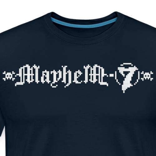MayheM-7 - Logo 4 - White - Men's Premium T-Shirt