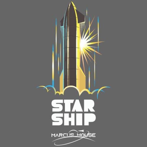 StarShip Earth - Dark - With Logo - Men's Premium T-Shirt