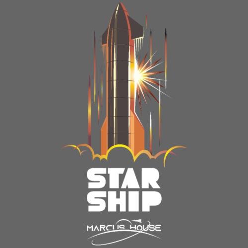 Star Ship Mars - Dark - With Logo - Men's Premium T-Shirt