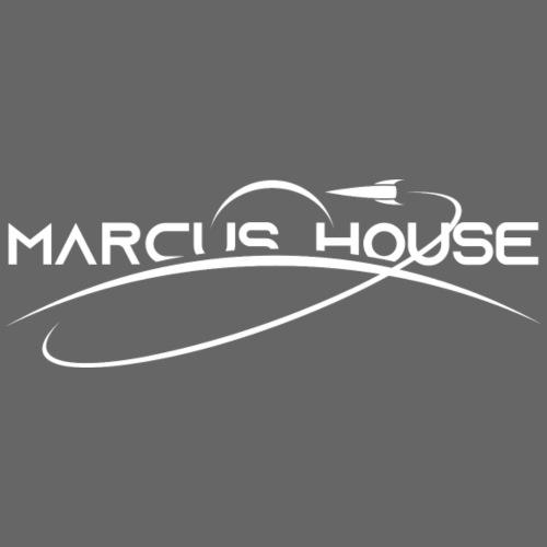 Marcus House Logo - White - Men's Premium T-Shirt