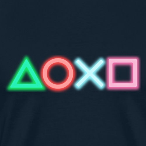Playstation shape neon - Men's Premium T-Shirt