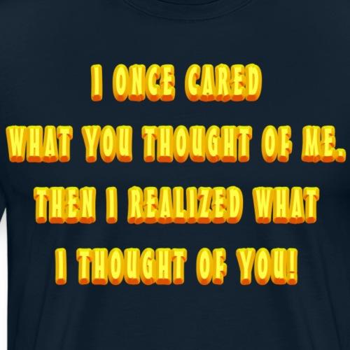 I Once Cared - Men's Premium T-Shirt