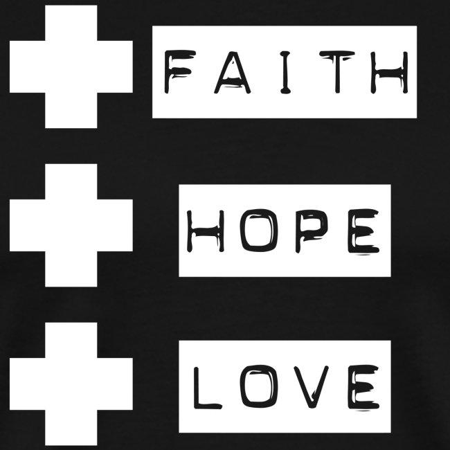 3 crosses , faith hope love