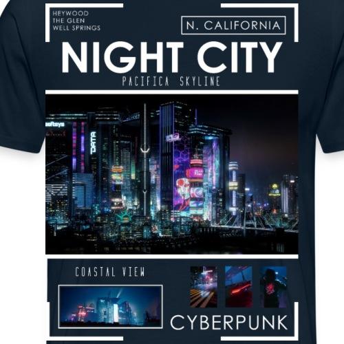 Night City Pacifica Skyline - Men's Premium T-Shirt