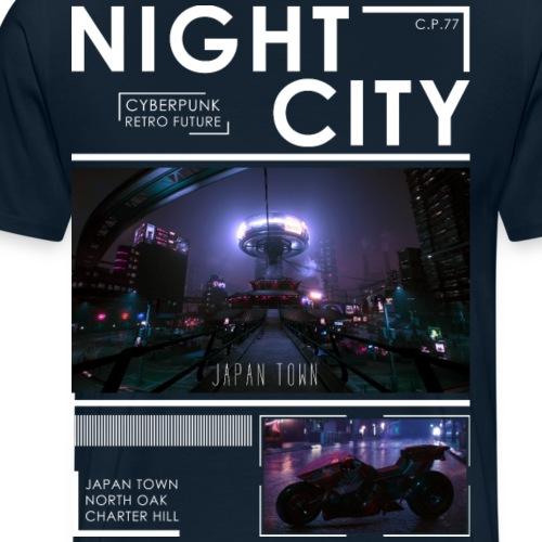 Night City Japan Town - Men's Premium T-Shirt