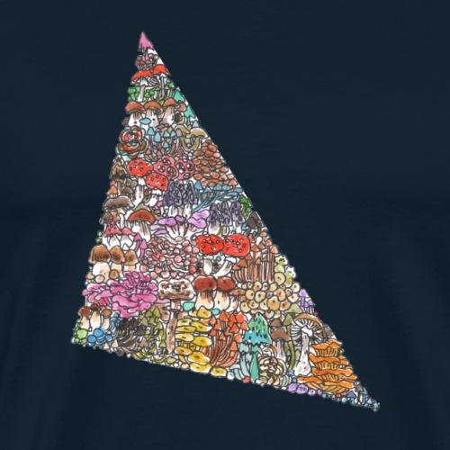 Love Triangle / Fungi / Mushrooms - Men's Premium T-Shirt