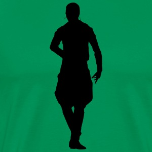Musician and dancer silhouette vector - Men's Premium T-Shirt