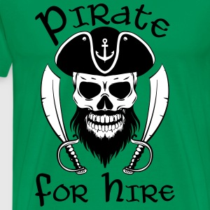 Pirate For Hire - Men's Premium T-Shirt