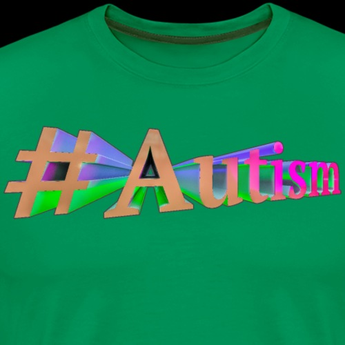 3d #Autism - Men's Premium T-Shirt