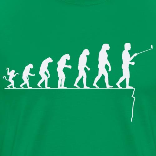 Evolution of man parody : mortal selfie - Men's Premium T-Shirt