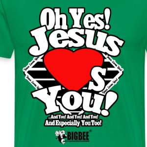 Oh Yes Jesus Loves You - Men's Premium T-Shirt