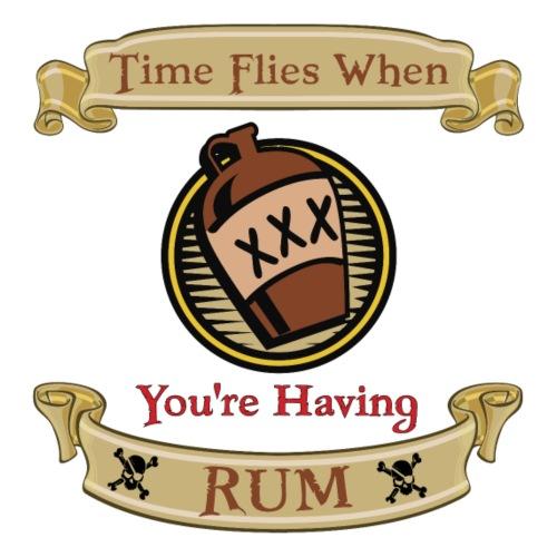 Time Flies when you're Having Rum! - Men's Premium T-Shirt