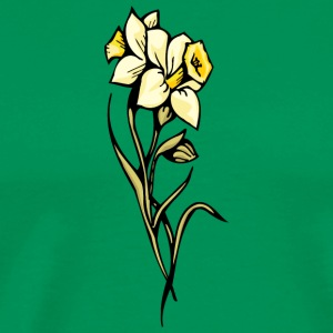 double_yellow_flowers - Men's Premium T-Shirt
