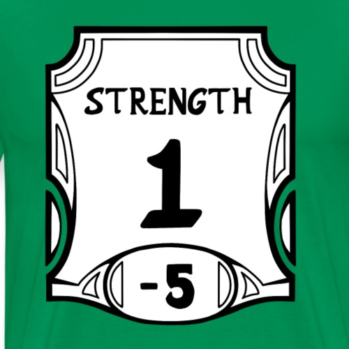 Alternate None of the Strength - Men's Premium T-Shirt