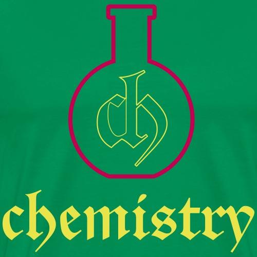 Chememistry CH logo on Bottle and word - Men's Premium T-Shirt