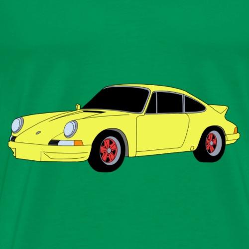 Sports Car 911 RS 2.7 yellow - Men's Premium T-Shirt