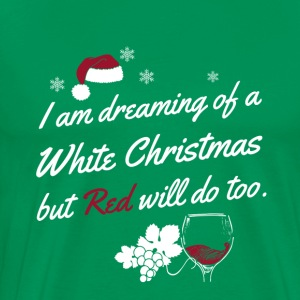 Funny White and Red Wine Christmas - Men's Premium T-Shirt