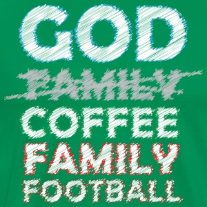 God Coffee Family Football - Men's Premium T-Shirt