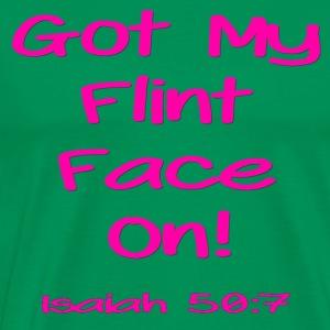 Flint Face - Pink - Men's Premium T-Shirt