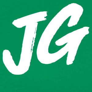 White JG Initials - Men's Premium T-Shirt