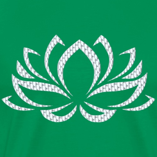 Silver Lotus Flower - Men's Premium T-Shirt