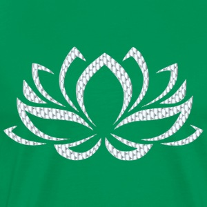 Silver Lotus Flower - Men's Premium T-Shirt