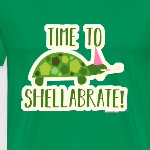 Time to Shellabrate Party Turtle - Men's Premium T-Shirt