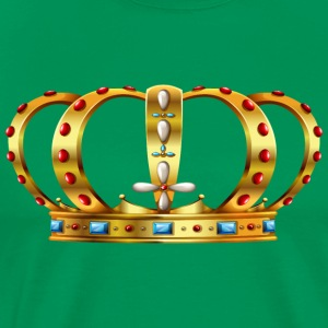 Royal crown decorated with precious stones - Men's Premium T-Shirt