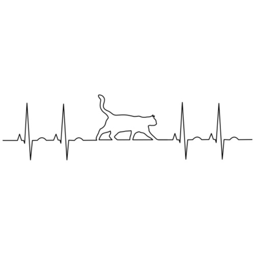 Cat EKG - Men's Premium T-Shirt
