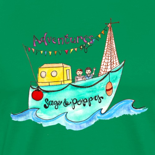 Adventures of Sage & Poppy Boat - Men's Premium T-Shirt