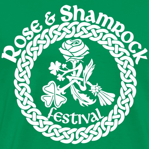 Rose and Shamrock One Color - Men's Premium T-Shirt