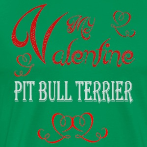 A romantic Valentine with my American Pit Bull Ter - Men's Premium T-Shirt