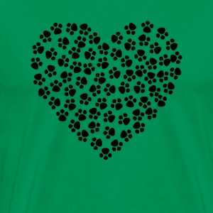 Paw Print Heart - Men's Premium T-Shirt