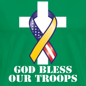 God Bless Our Troops - Men's Premium T-Shirt
