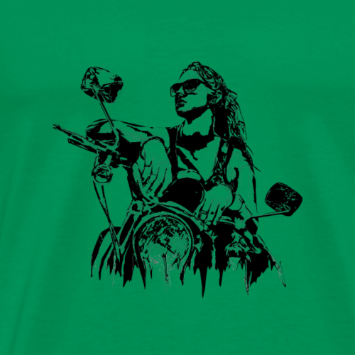 Motorcycle Illustration - Men's Premium T-Shirt