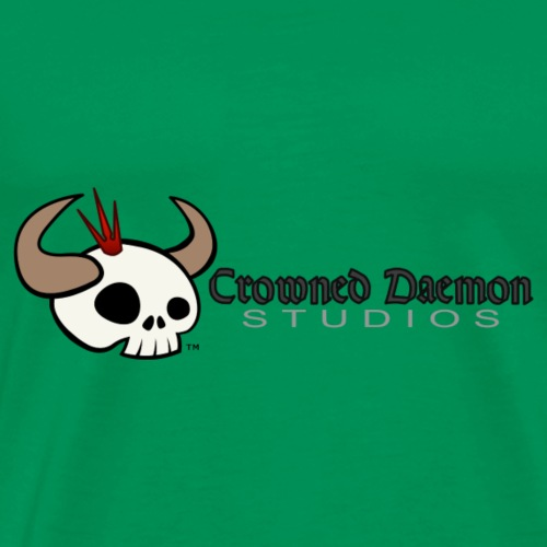 Crowned Daemon Studios Logo - Dark - Men's Premium T-Shirt