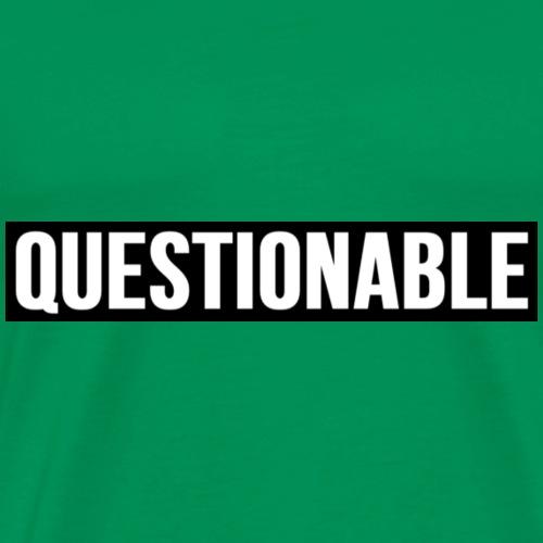 QUESTIONABLE BOX LOGO - Men's Premium T-Shirt