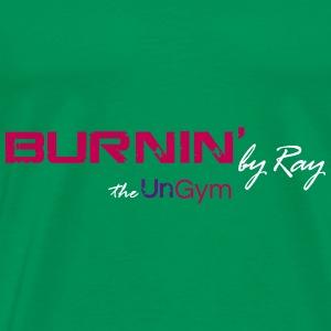 Burnin T Shirts on black - Men's Premium T-Shirt