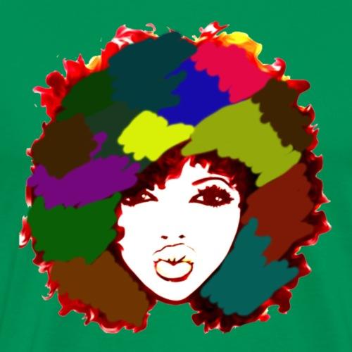 Afro Rainbow Art Natural Hair Naturalista - Men's Premium T-Shirt